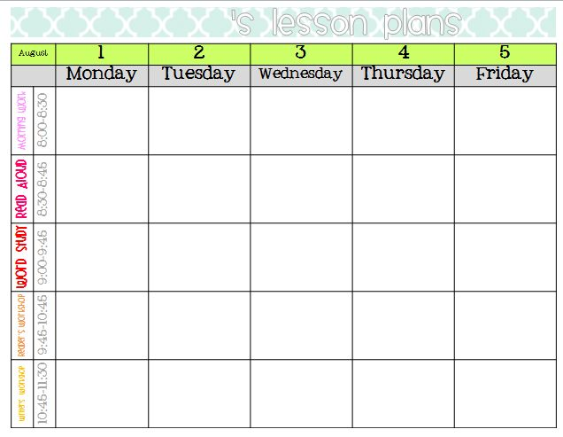 Best 25+ Blank lesson plan template ideas on Pinterest   Weekly ...