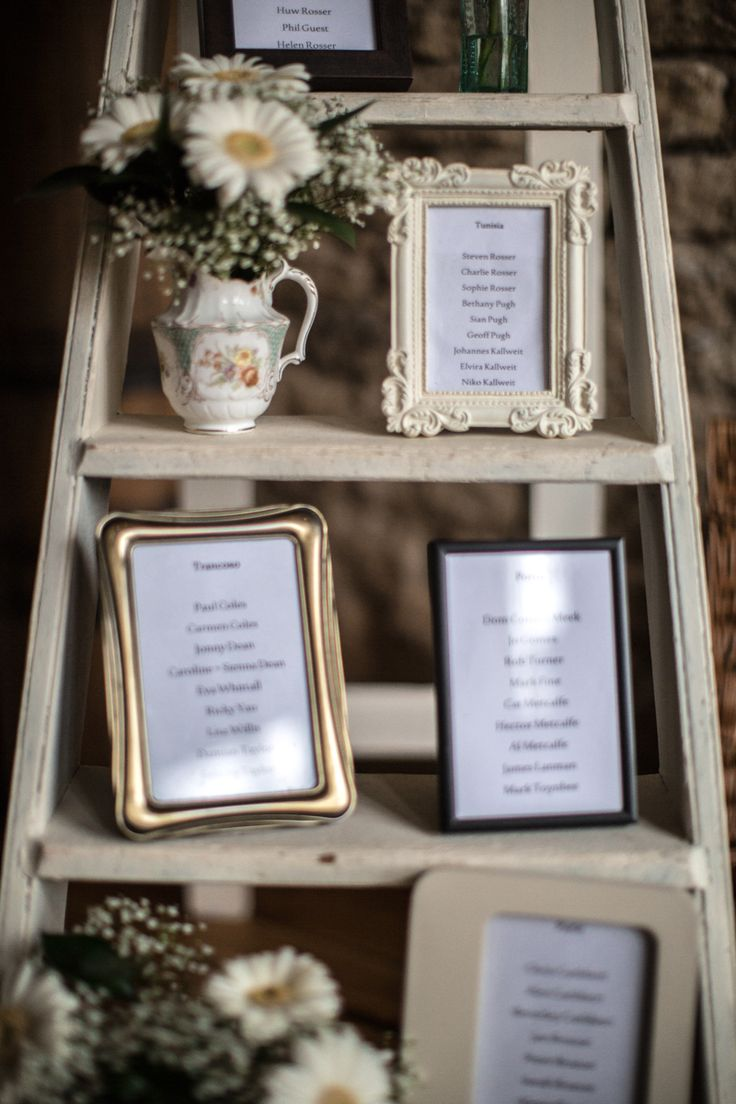 Ladder Table Plan -   Image by Richard Jones - A Pretty Barn Wedding In The Cotswolds At The Great Tythe Barn With Bride In Pronovias And Groom In Reiss With Decor From The Vintage Hire http://www.rockmywedding.co.uk/a-taste-of-brazil/