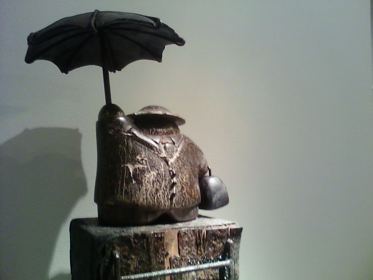 Obra del escultor peruano, Marcelo Wong (Exposición del Centro Cultural Peruano Japonés)