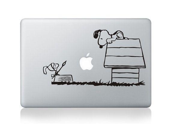 Snoopy -Macbook Decal Macbook Stickers Mac Decals Apple Decal for Macbook Pro Air / iPad / iPhone