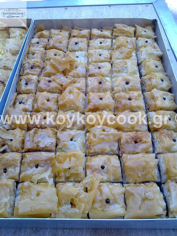 The Lord of the Traditional Greek Christmas desserts : Baklavas