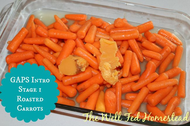 Post image for GAPS Intro Stage 1 Roasted Carrots