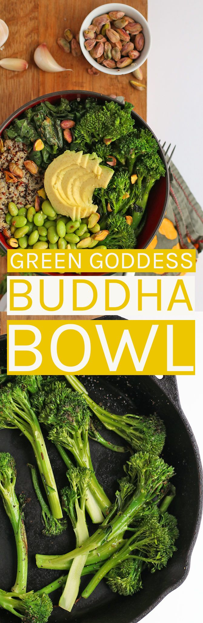 Enjoy this Green Goddess Buddha Bowl for a healthy vegan and gluten-free meal.