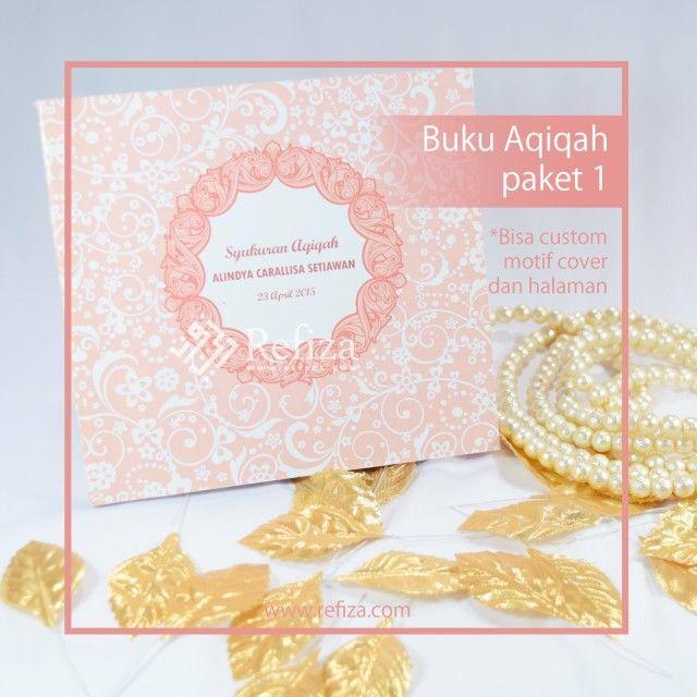 Buku aqiqah paket 1 siap menemani acara spesial anda. Bisa custom motif cover dan halaman.