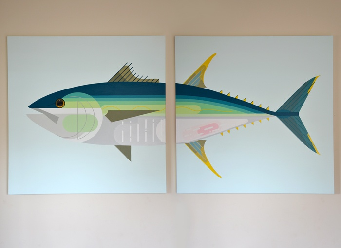 Yellow Fin Tuna, 152x101cm - Acrylics on canvas, 2012