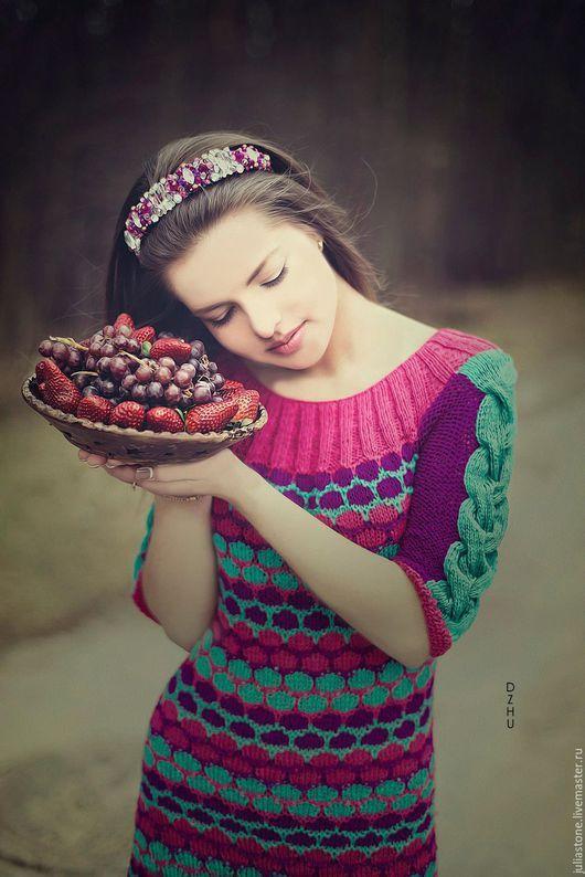 Bright knitted dress / Кофты и свитера ручной работы. Заказать Туника - Платье
