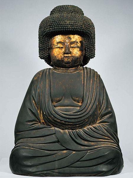 Gokoshii Amida buddha statue, property of Gokou-in temple, Nara, Japan