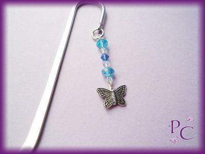 Segnalibro Farfalla e cristalli blu