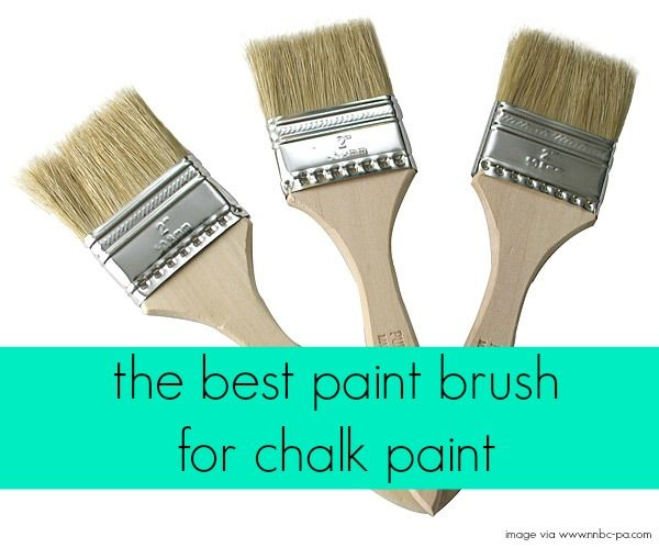 The Best Paint Brush for Chalk Paint. {This would go great with some chalkboard paint or better yet, materials to make chalkboard paint.}