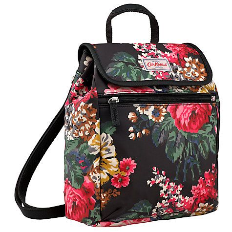 Buy Cath Kidston Bloomsbury Bouquet Backpack, Black Online at johnlewis.com