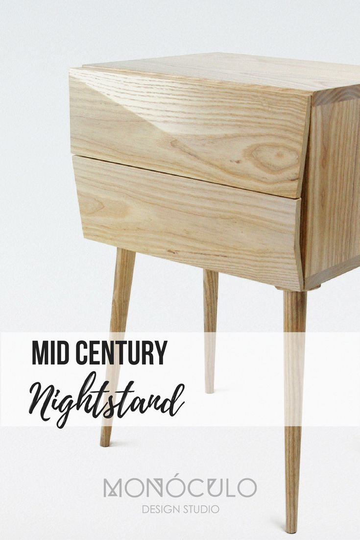 Nightstand Pair Mid Century Modern Style / Wood Bedside Table With Drawers  / Bedroom Furniture /