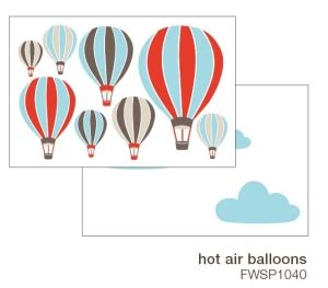 Väggdekor Luftballonger och Moln