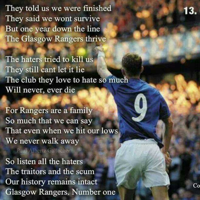 Glasgow Rangers Number One