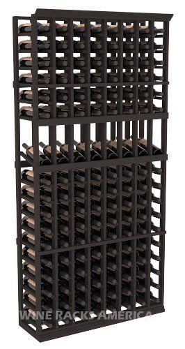 Five Star Series: 8 Column 136 Bottle Display Wine Cellar Rack in Pine with Black Stain by Wine Racks America®. $568.49. 15° industry-leading high reveal display. Money Back Guarantee + Lifetime Warranty. Choose From either Pine, Redwood, or Mahogany along with optional Industry Leading Quality Eco-Friendly Stains Paired with an Immaculate Satin Finish. Each have custom finishes and are professionally stained to order, so please allow a few additional days after you...