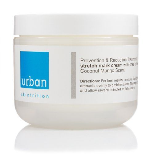 Urban Skintrition Stretch Mark Cream with Shea Butter - Coconut Mango Scented - 4 oz by Urban Skintrition. $22.95. Collagen Repair: Protein repairing Collagen and skin tightening agents with Vitamins C, E and A are the main essentials to help protect and repair the skin from further damage.. Provides 12 hour moisture through out the day and evening as you sleep.. #1 Treatment for reducing stretch marks.. While many people see results within 2 weeks we recommen...