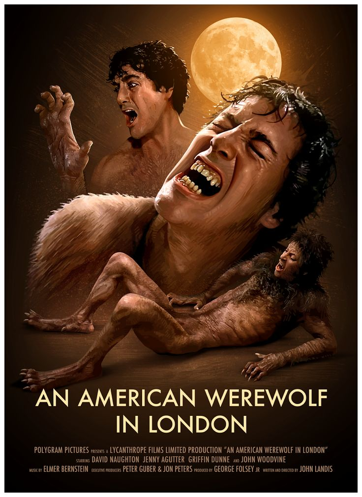 An American Werewolf in London poster by Brian Taylor. I was 10 when i saw it. :P #Horror #LOVEHORROR