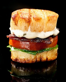 Scallop BLT - holy yum! This might just be all of my favorite things wrapped up into one!