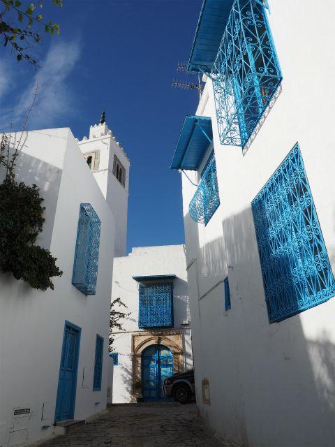 PC300302 シディ・ブ・サイド   白と青の小さな楽園 / Sidi Bou Said   petit paradis blanc et bleu