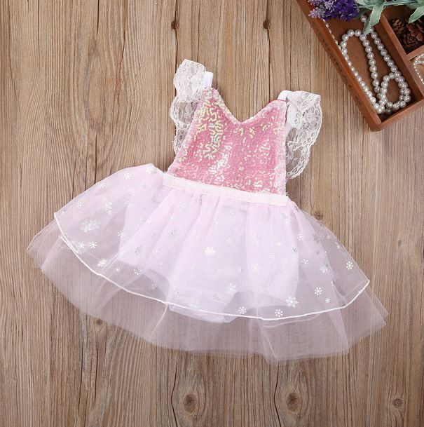 Baby Girl Pink Winter Wonderland Romper For your Winter Princess 1st Birthday