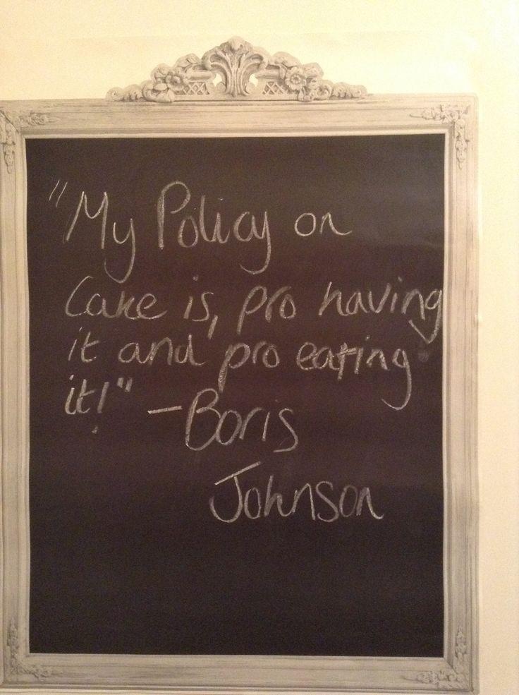 Borris Johnson love! Hero!