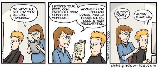 Evolution of the thesis phd comics
