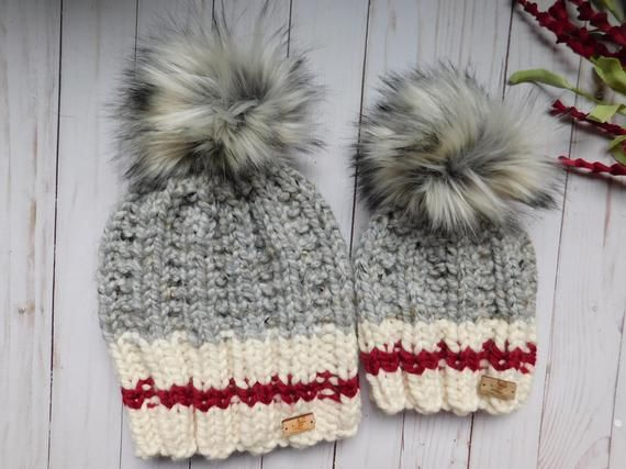 4641456f5ee62 Mommy and Me Matching hats. Mom and son matching hats. hats for infants  Toddlers Child.Mom and son hats.