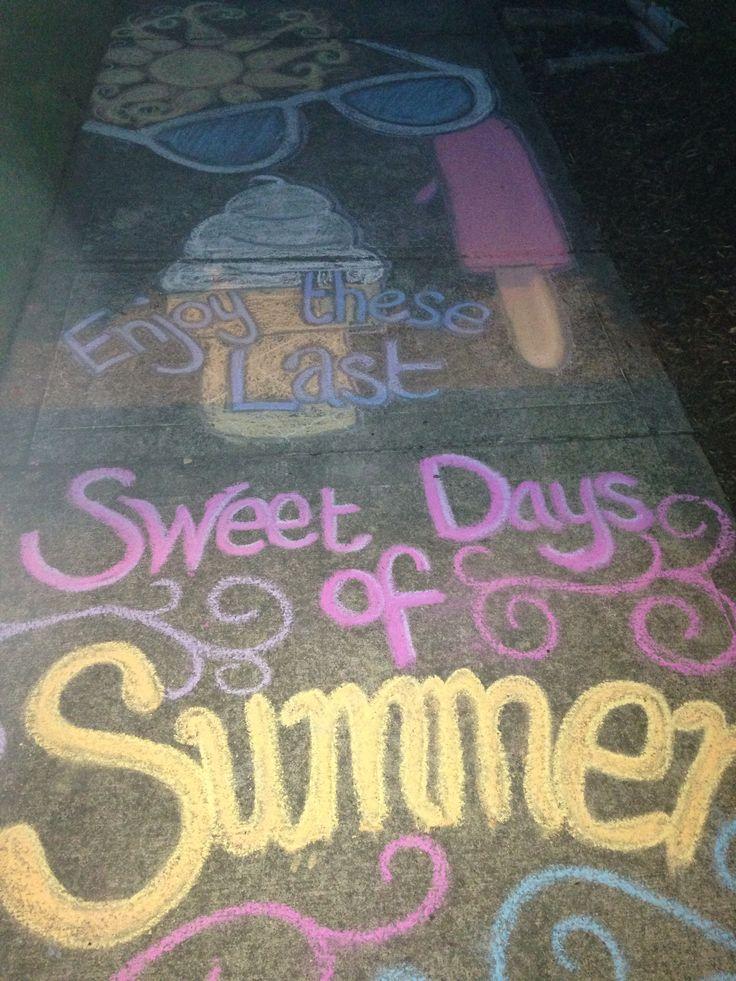 Enjoy these last sweet days of summer sidewalk chalk art