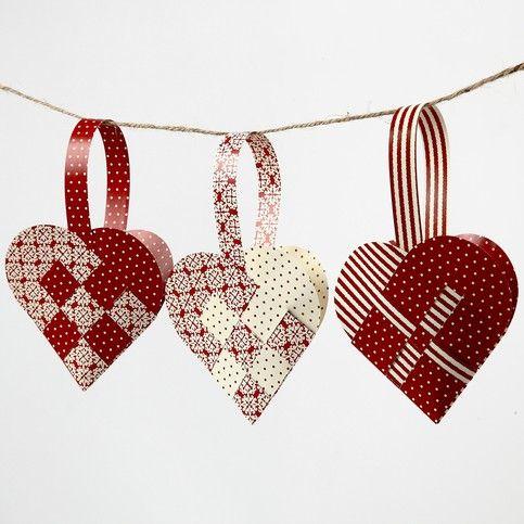 Woven Christmas Hearts