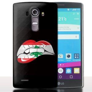Coque Telephone LG G4 Kiss Libanais - Drapeau Liban - Lips Bouche