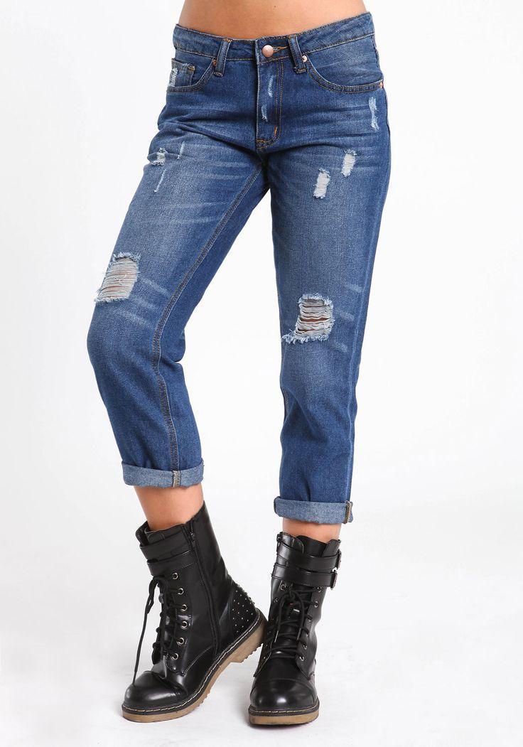 Cropped Boyfriend Jeans u0026 Boots | My Style | Pinterest | Boyfriend Jeans Boyfriends and Jeans