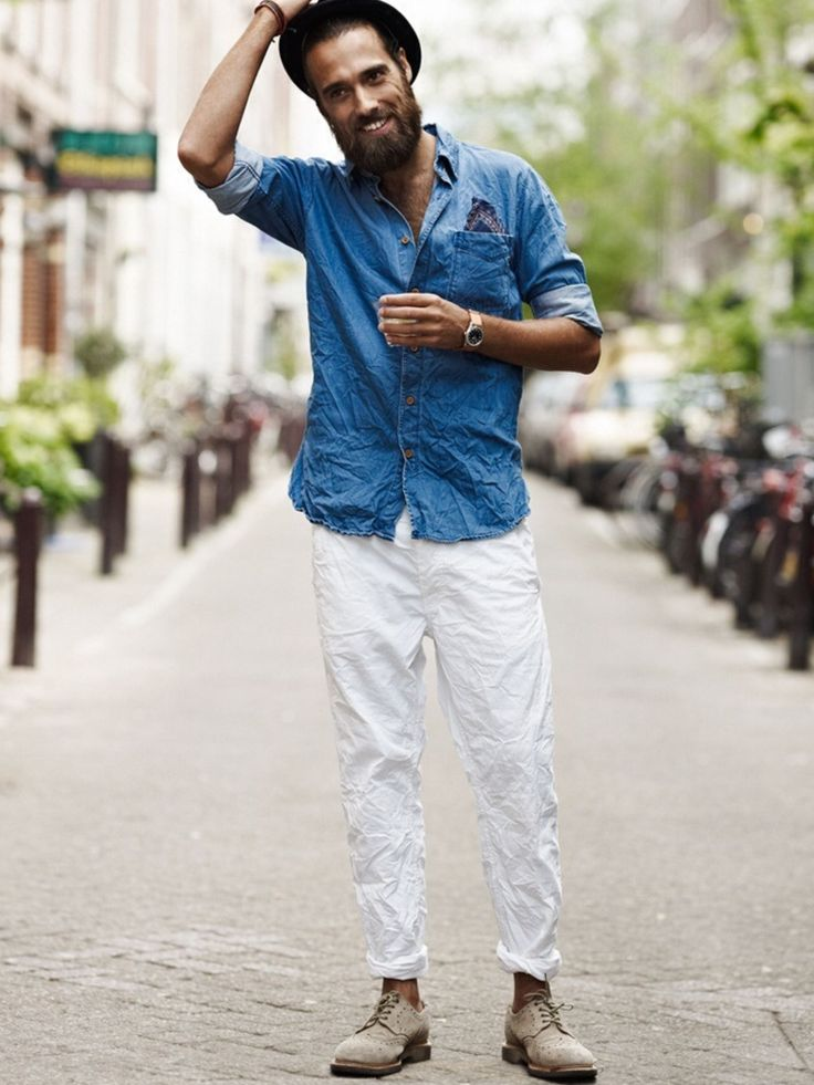 100  best images about How to wear white jeans ? # men's fashion ...