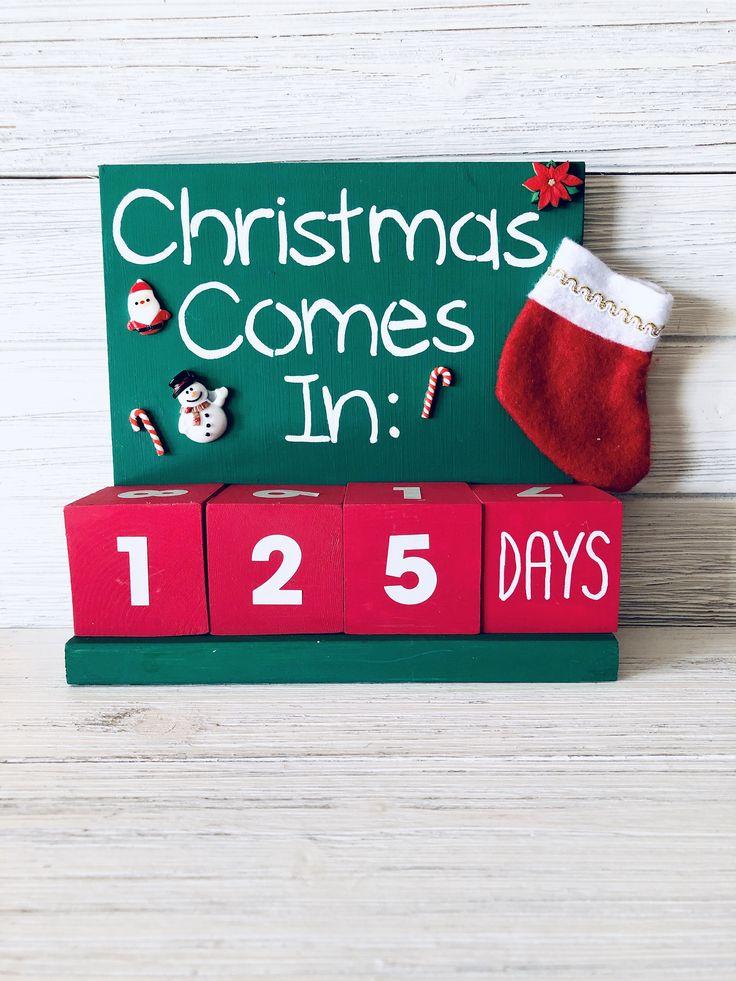 Christmas Countdown Calendar Christmas Decor Santa Clause