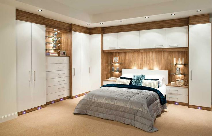 Adrianna White Fitted Bedroom - without panel behind headboard