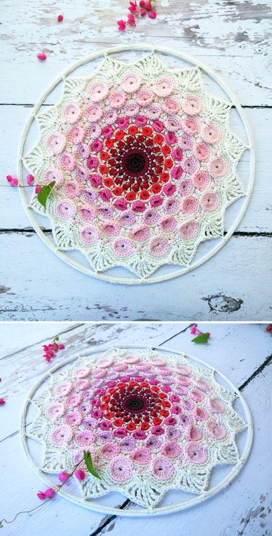 Stone Mandala pattern by goolgool. Overlay crochet mandala.
