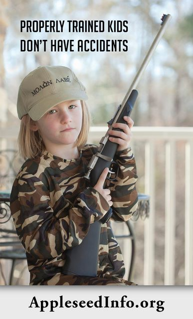 """#Protection #Survival #Guns - Properly trained kids don't have accidents - Helping to prevent """"accidents""""."""