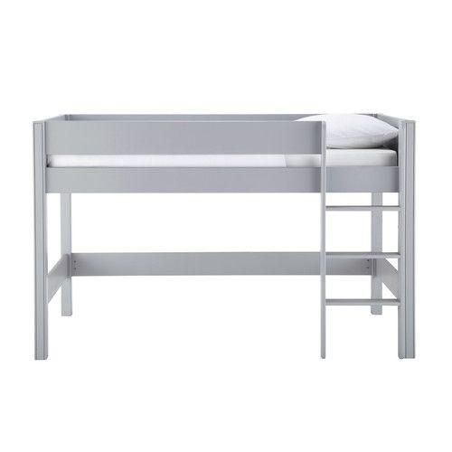 Lit mezzanine enfant 90 x 190 cm en bois gris 379€ maison du monde