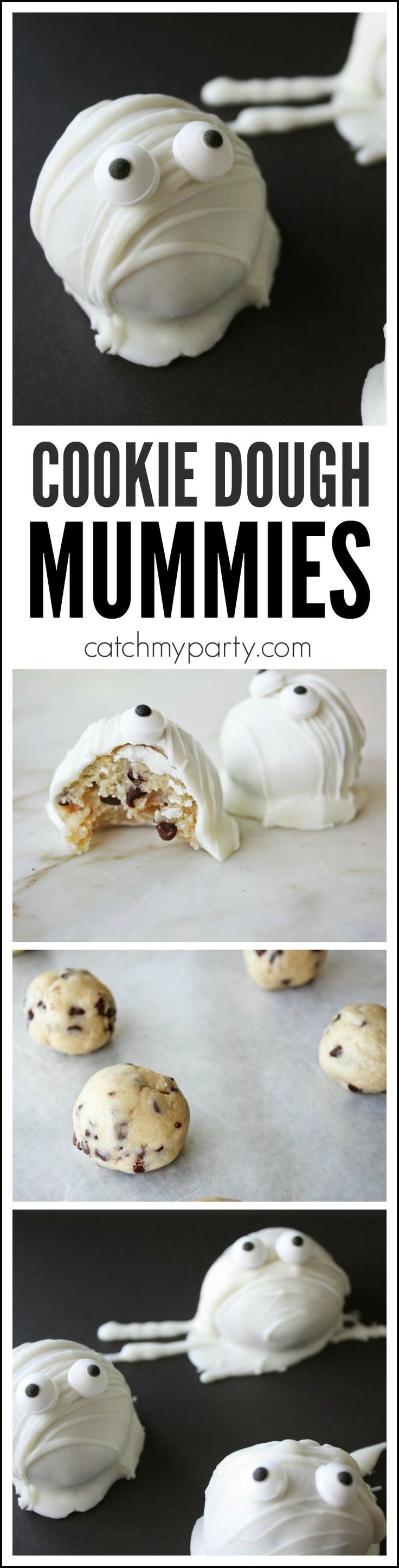 Cookie Dough Mummies | CatchMyParty.com