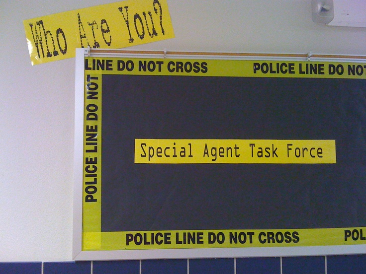 Getting-to-know-you activity for forensic/detective theme- students filled in fact sheets about themselves to be displayed