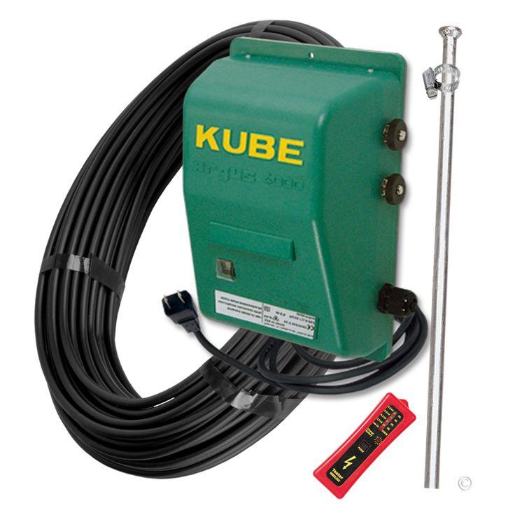 An economic 110V wide-impedance electric fence energizer kit used for medium length fences.