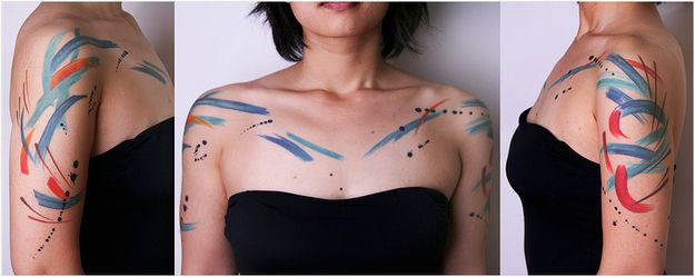 I love the idea of being a human canvas for such expressive art. I find it so beautiful ~Hayley