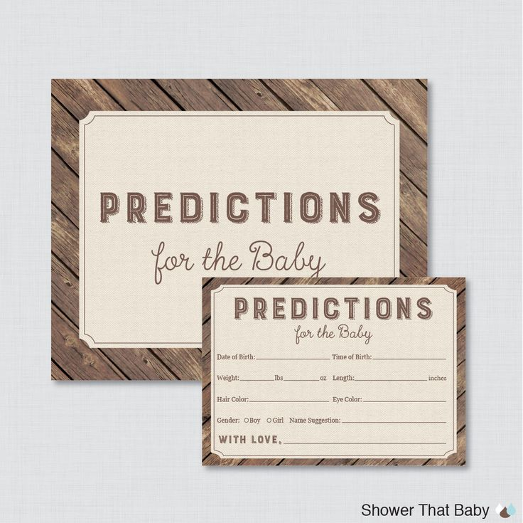 Rustic Baby Shower Prediction Cards - Instant Download - Rustic Wood and Burlap Baby Statistics Game Guess Baby's Birthday, Weight - 0034 by ShowerThatBaby on Etsy https://www.etsy.com/listing/241082838/rustic-baby-shower-prediction-cards