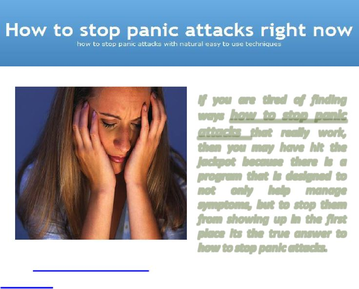 panic attacks how to stop them