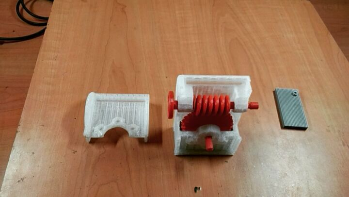 3d Printed Worm Gear System Assembly Worms Wooden Toy Car