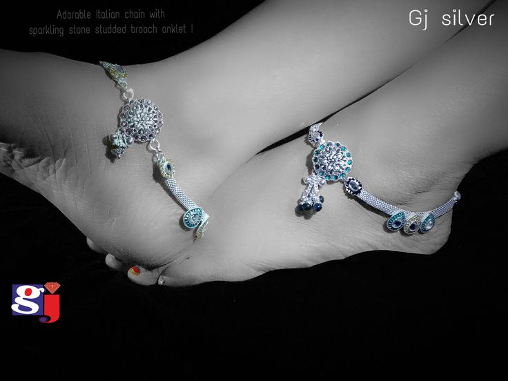 Silver  Bombay fancy  Payal design , designer anklet , traditional silver jewellery designed by #gj #silver