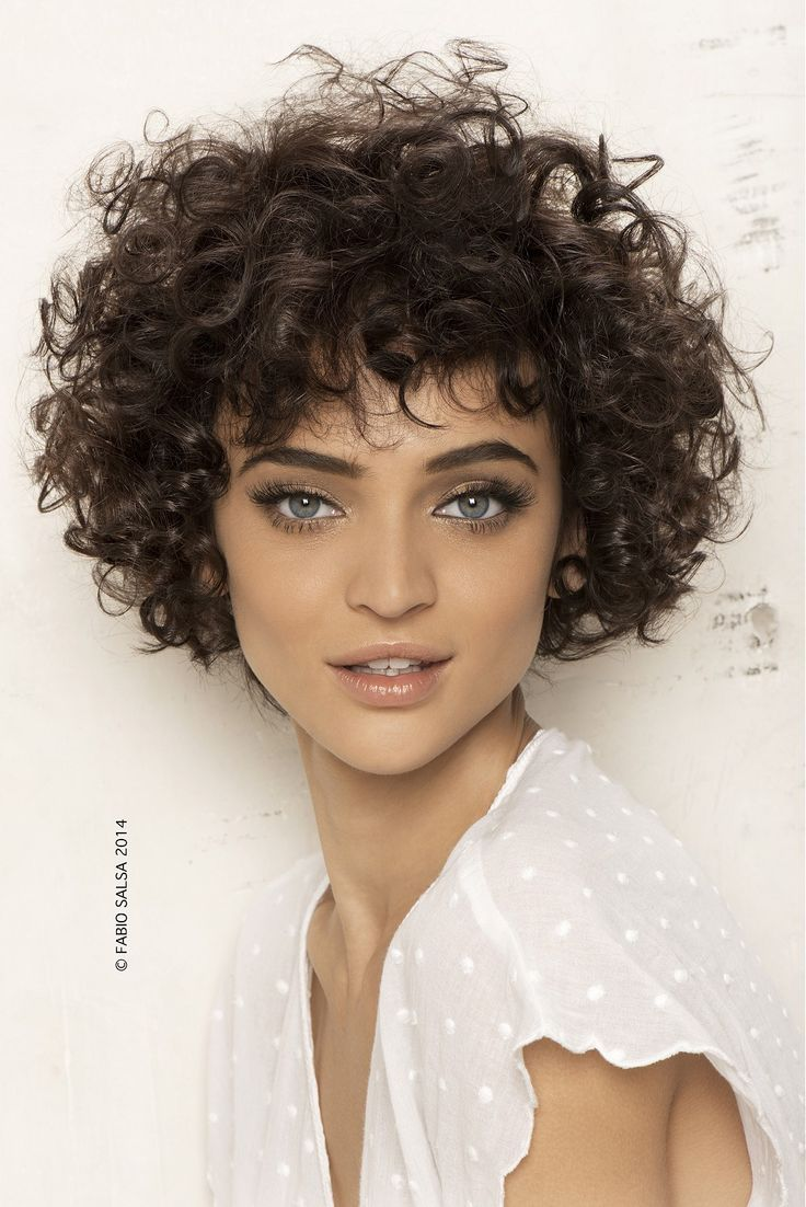 Large image of Medium Brown curly hairstyles provided by Fabio Salsa. Picture Number 22875