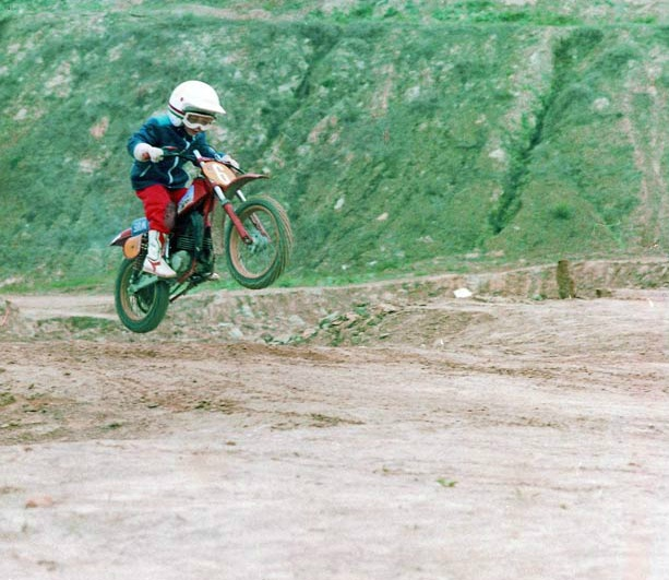 Valentino Rossi at the age of 6.