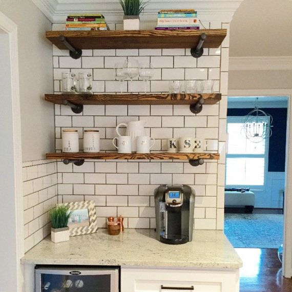 Pipe Shelf Kitchen: Open Kitchen Shelves, Industrial Pipe Shelving, Farmhouse