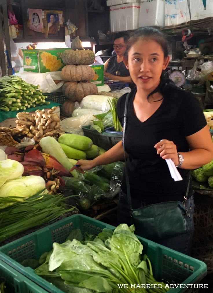 On our girls' trip to Thailand, we took a class from Bangkok's Maliwan Thai Cooking School. Our instructor, Mae, took us by tuk tuk to the local Klong Toey Fresh Market to purchase ingredients. Read more about it on the We Married Adventure blog!
