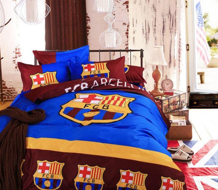 Popular European Soccer Team Bedding Duvet Cover Bed Sheet Pillow Cases 3/4pcs Bed Linen Set for Queen/double/full/twin Size Bed
