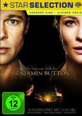 Der seltsame Fall des Benjamin Button  2008 USA      Jetzt bei Amazon Kaufen Jetzt als Blu-ray oder DVD bei Amazon.de bestellen  IMDB Rating 7,8 (253.361)  Darsteller: Cate Blanchett, Brad Pitt, Julia Ormond, Faune A. Chambers, Elias Koteas,  Genre: Drama, Fantasy, Mystery,  FSK: 12